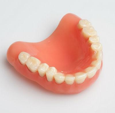 complete denture photo for patients with no teeth in woodbridge or orange, ct
