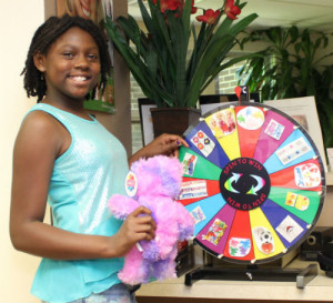 Spinning Prize Wheel for Kids and children at our dentist office