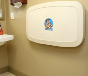 changing table in our bathroom in dentist office in Orange