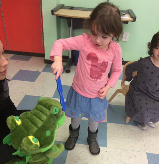 Orange, CT dental office visiting preschool to teach kids