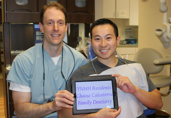 Yale Hospital Resident with dentist Dr. Nick Calcaterra Orange, CT