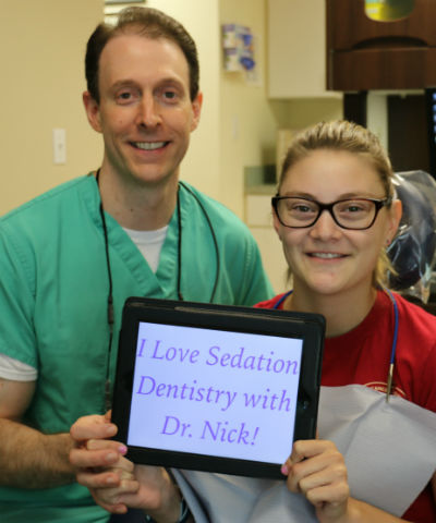 Aetna Dental insurance patient and Dr. Nick Calcaterra in Orange, CT