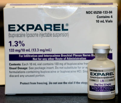 Exparel non-opioid pain reliever seen in Orange, Connecticut
