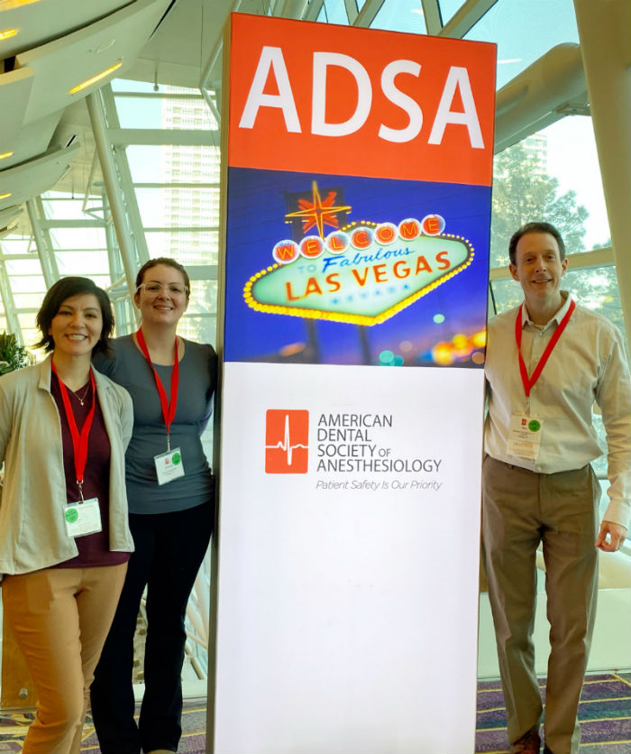 Dr. Calcaterra and his Sedation Assistants at ADSA Conference